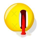 Dode emoji Slechte emotie Lijk emoticon Het vectorpictogram van de illustratieglimlach Royalty-vrije Stock Foto