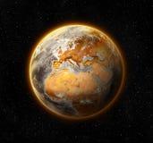 Dode en onvruchtbare wereld Stock Afbeelding