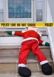 Dode Kerstman stock afbeelding
