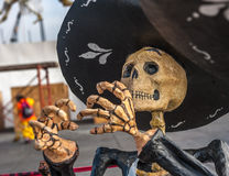 Dode mariachi, Dia DE los muertos, Dag van de doden in Mexico Stock Fotografie