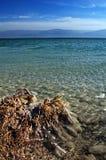 Dode overzees - Israël - glashelder zout water Royalty-vrije Stock Fotografie