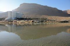 Dode Sead-mening, Ein Bokek, Israël Stock Foto