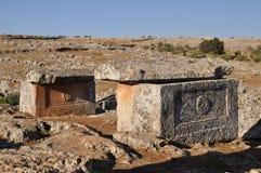 Dode stad van Serjilla, Syrië Royalty-vrije Stock Foto's