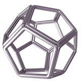 Dodecahedron. Original isolated illustration of a tubular steel dodecahedron Royalty Free Stock Photography