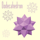 Dodecahedron-Icosahedron compound figure for your web design. Vector illustration of Dodecahedron. Design with regular polyhedron Stock Images