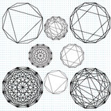 Dodecahedron polygons Royalty Free Stock Photo