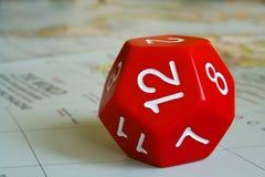 Dodecahedron rosso Fotografia Stock