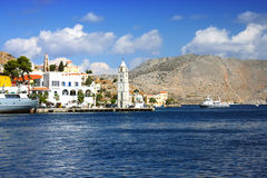 Dodecanesse. Island Symi (Simi).City landscape Royalty Free Stock Photography