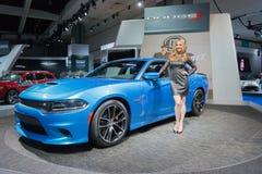 Dodge ładowarka SRT 2015 na pokazie Obraz Royalty Free