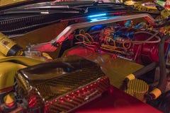 Dodge ładowarki SRT8 silnik na pokazie Zdjęcie Stock