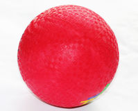 Dodge Ball. Close up shot of a red dodge ball royalty free stock photography