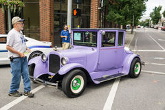 1925 Dodge Brothers Coup. Roanoke, VA – June 24th: 1925 Dodge Brothers Coup at the Annual Star City Motor Madness Car and Truck Show located in Roanoke stock photography