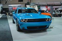 Dodge Challenger 2015 on dlisplay Royalty Free Stock Image