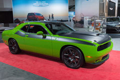 Dodge Challenger Green Stock Image