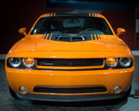 Dodge Challenger Hemi. DETROIT, MI/USA - JANUARY 15: A 2014 Dodge Challenger Hemi Shaker Limited Edition at the North American International Auto Show (NAIAS) on Royalty Free Stock Images