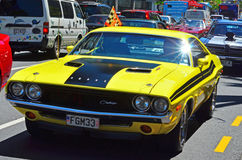 Dodge Challenger in a public US muscle cars V8 car show Royalty Free Stock Photography