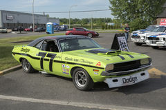 Dodge challenger race car Royalty Free Stock Photo