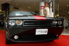 Dodge Challenger Rallye Redline in Motor Show 2014. RAYONG, THAILAND - FEBRUARY 13-18:Dodge Challenger Rallye Redline car on display at Laemtong Shopping Plaza Royalty Free Stock Photography