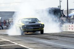 Dodge challenger smoke show Royalty Free Stock Photography