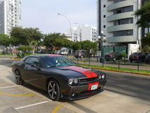 Dodge Challenger SRT8 392 Hemi parked in Lima Royalty Free Stock Images
