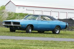 Dodge charger. Picture of the blue 1969 dodge charger rt stock images