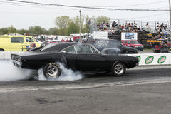Dodge charger in action Royalty Free Stock Images