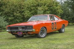 Dodge charger general lee Royalty Free Stock Photos