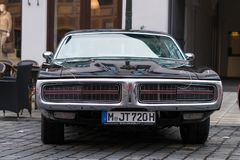 Dodge Charger oldtimer car. Augsburg, Germany - October 1, 2017: Dodge Charger oldtimer car at the Fuggerstadt Classic 2017 Oldtimer Rallye on October 1, 2017 in Royalty Free Stock Image