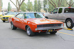 Dodge Charger R/T classic car on display Royalty Free Stock Images
