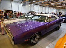 Dodge Charger R-T. Displayed at 3rd edition of MOTO SHOW in Cracow Poland. Exhibitors present  most interesting aspects of the automotive industry Royalty Free Stock Image