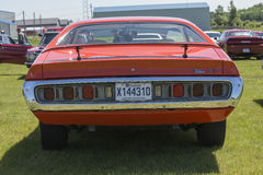 Dodge charger rear view royalty free stock photos