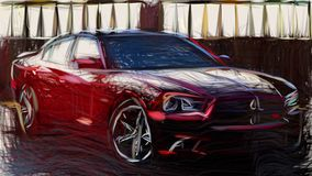 2014 Dodge Charger RT 100th Anniversary ID 8703 vector illustration