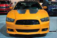 Dodge Charger SRT8 Super Bee car on display at the LA Auto Show. Royalty Free Stock Photo