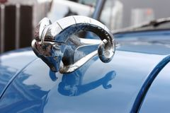 Dodge chrome ram hood ornament stock photo