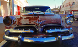 Dodge clássico oxidado velho, Lowell, o Arizona Imagem de Stock