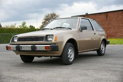 Dodge colt. Picture of the brown Dodge Colt royalty free stock image