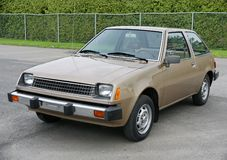 Dodge colt. Picture of the dodge colt in a parking royalty free stock photos