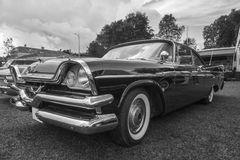 Dodge coronet 1957 b&w Royalty Free Stock Images