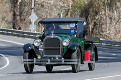 1925 Dodge D Utility driving on country road. Adelaide, Australia - September 25, 2016: Vintage 1925 Dodge D Utility driving on country roads near the town of Stock Image