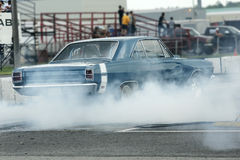 Drag car burnout Stock Image