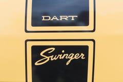 Dodge Dart Swinger on display Stock Image