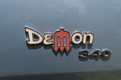 Dodge Demon 340 emblem on display Stock Photo