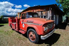 A Dodge fire truck from the Caboolture Historic Village, Queensland. An old Dodge truck used as a fire truck for the Rural Fire Brigade still looking good in the royalty free stock image
