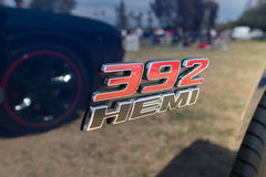 Dodge 392 HEMI emblem on display Royalty Free Stock Images