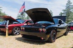Dodge-Herausforderer Funktelegrafie auf Anzeige Lizenzfreie Stockfotografie
