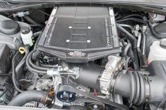 Dodge-Herausforderer Funktelegrafie-Maschine auf Anzeige Lizenzfreie Stockfotos