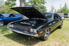 Dodge-Herausforderer HEMI auf Anzeige Stockbild