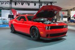 Dodge-Herausforderer SRT auf Anzeige stockbild