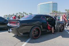 Dodge-Herausforderer SRT8 auf Anzeige während DUB Show Tours Stockfotografie