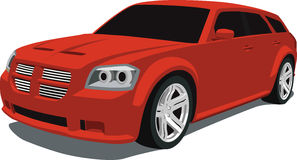 Dodge Magnum Wagon. A Vector .eps illustration of a Red Dodge Magnum Wagon. Saved in layers for easy editing. See my portfolio for more automotive illustrations vector illustration